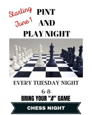 Starting Tuesday, June 1, @stgbeer will be having pints and play CHESS NIGHT. Join in the fun! #chess #chessnight #gamenight #pint #greatbeer #slayingordinarybeersince1998