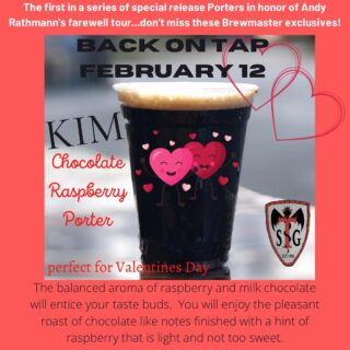 Kick off the weekend with a #greatbeer ... KIM is back, just in time for Valentine's Day. Friday 12-8 with KIM re-release and Chicken Stop Food Truck Saturday 9:30-10:30 Yoga on tap with Yaz Yoga open 11-8 with @theblackpearl food-truck Join us for the #xfinityseries and support Virginia native #brandonbrownracing sponsored by The Original Larry's Hard Lemonade Brewing Co $1 off pints of The Original Larry's Hard Lemonade Brewing Co $2 off of growler fills of The Original Larry's Hard Lemonade Brewing Co #larryslemonade #beerrelease #porter #weekendvibes #foodtruck #growlerfills #pintspecial #daytona500 #raceday #hardlemonade #xfinityseries
