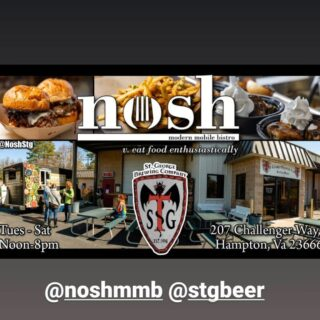 This week Monday 12-6 Tuesday 12-6 with @chickenstop757 Wednesday 12-8 Thursday 12-8 Friday 12-8 NEW RELEASE Brut Rose and the debut of @noshstg Saturday 9:30-10:30 Yoga on Tap 11-8 with @noshstg #foodtrucks #beerontap #craftbeers #slayingordinarybeersince1998 #bloodyfinebrew