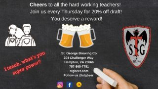TEACHERS!!! Don't forget- it's Thursday- that means 20% off draft for all of you hard working folks! Come see us! #teachersrock #craftbeer #drinklocal #slayingordinarybeersince1998