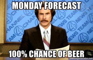 We have the cure for your case of the Mondays- come have a beer with us! #drinklocal #craftbeer #mondayvibes #slayingordinarybeersince1998
