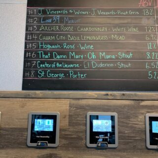 Where have you spotted St. George? On tap at @sweetbeanscs ... enjoy a pint and don't forget to tag us @stgbeer #greatbeer #beerontap #kegs #growlers #supportlocalbusiness #coffeeandbeer