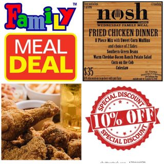Open 12-8 It's FAMILY NIGHT! Get 10% off package or growlers with your purchase of @noshstg Family Meal… beer goes with everything! #slayingordinarybeersince1998 #beerontap #familymeals #beerspecial #foodtogo #beertogo