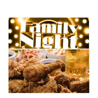 It's FAMILY NIGHT! Enjoy 8 pieces of fried chicken with 2 sides and corn muffins from @noshstg for $35… 10%off all package and growler sales with purchase of a meal. #slayingordinarybeersince1998 #beerontap #familymeals #outdoorseating #beerspecials #togospecial