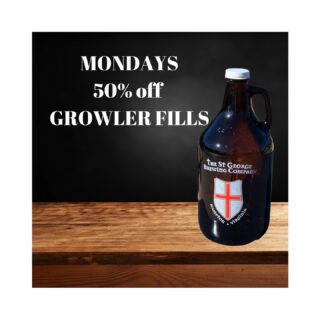 Open 12-6 with 50% off growler refills… enjoy a pint and get a growler to take with you. #slayingordinarybeersince1998 #craftbeers @__beer_lovers #beerontap #growler #growlerfills