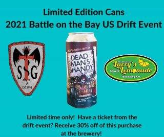 @langleydriftclub Battle on the Bay event is this weekend! Come get this limited release special edition can! Bring your Drifter event ticket to the brewery and receive 30% off on these special cans! #driftcar #battleonthebay #slayingordinarybeersince1998 #craftbrew #drinklocal #drift #langleydriftclub @langleyspeedway
