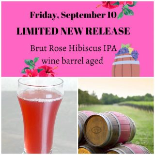 FRIDAY, September 10… LIMITED RELEASE! Come try one of the fan favorites brewed for Williamsburg Winery Beer Bash! The Wine barrel aged ( provided by Williamsburg Winery)Brute Rose Hibiscus IPA …. Yummy! #beerbash #bruterose #ipa #hibiscus #limitedrelease #slayingordinarybeersince1998