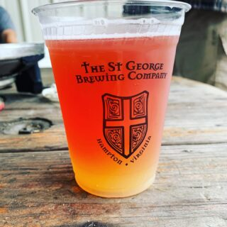 Wishing the rain away? Come try our latest blend-Summer Breeze! With notes of hibiscus, lemon and melon you won't even remember the rain! Plenty of covered spots to sit! Come join us. @noshstg Is serving up delicious eats all day! #slayingordinarybeersince1998 #craftbeer #drinklocal #fruitbeer #summerbreeze #partyintherain @veermagazine @hamptonva
