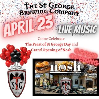 It's our BIRTHDAY! Let's celebrate! @noshstg GRAND OPENING and The Feast of St. George all in one day... #livemusic from 5pm-8pm #specialmenu and #greatbeer #slayingordinarybeersince1998 #bloodyfinebrew #craftbeers #beerlove #vacraftbeers #visithampton